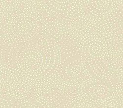 "End of Bolt - 74"" -Ramblings -  #716-01 White Dots on Cream by P&B Textiles"