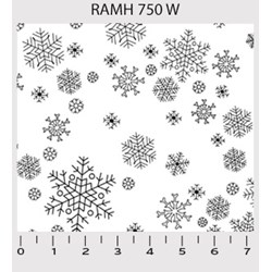 "End of Bolt - 42"" -Ramblings - White on White Snowflakes by P&B Textiles"