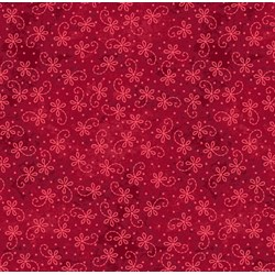 The Little Things - Red  Lazy Daisy Twirl - by Maywood Studio