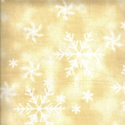 "End of Bolt - 71"" - Holiday Prints - Christmas Snowflakes in Cream - by AE Nathan Co"