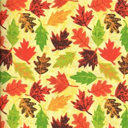 "33"" Remnant 0  - Holiday Prints - Autumn Leaves in Multi - by AE Nathan Co"