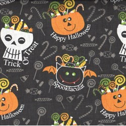 Holiday Prints - Halloween Candy Heads in Black - by AE Nathan Co