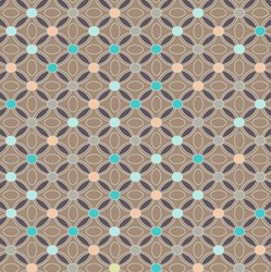 "9"" Remnant - Revive - Cocoa Restful Medallions Quilting Fabric"