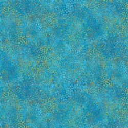 Shimmer Peacock - Turquoise Shimmer - by Deborah Edwards for Artisan Spirit of Northcott Studio