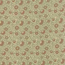 Best of Morris - Tan Floral - by Barbara Brackman for MODA