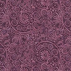 "13"" Remnant - Tapestry-  C6909-PURPle by Wing & a Prayer Timeless Treasures"