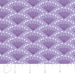 "13"" Remnant - Make a Wish by Camelot Fabrics-Rosette in Lilac"
