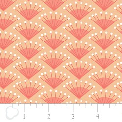 "15"" Remnant - Make a Wish by Camelot Fabrics-Rosette in Grapefruit"