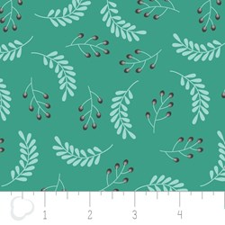 "33"" Remnant - Make a Wish by Camelot Fabrics-Leaves in Spearmint"