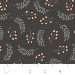 "18"" Remnant - Make a Wish by Camelot Fabrics-Leaves in Gray"