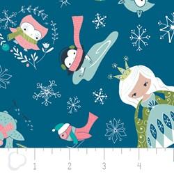 Winter Wonderland by Camelot Fabrics-Ice Princess on Blue
