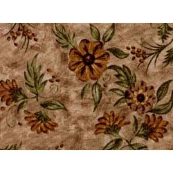 "18"" Remnant - Choco-Latte Folk Art Quilting Fabric ~ by Whimsicals Quilts ~ Terri Degenkolb for Red Rooster Fabrics"