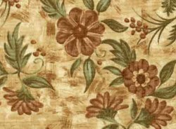 "22"" x 60"" - rEMNANT - Choco-Latte Folk Art Quilting Fabric ~ 16327-pea1  by Whimsicals Quilts ~ Terri Degenkolb for Red Rooster Fabrics"