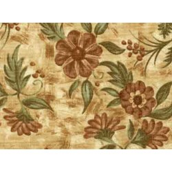 """22"""" x 60"""" - rEMNANT - Choco-Latte Folk Art Quilting Fabric ~ 16327-pea1  by Whimsicals Quilts ~ Terri Degenkolb for Red Rooster Fabrics"""