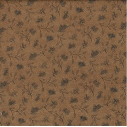 "11"" Remnant Piece - Choco-Latte Folk Art Quilting Fabric ~ by Whimsicals Quilts ~ Terri Degenkolb for Red Rooster Fabrics"