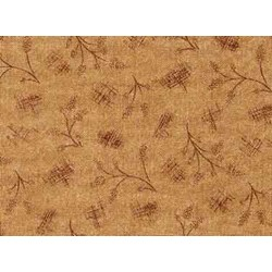 "12"" Remnant Piece Choco-Latte Folk Art Quilting Fabric ~ by Whimsicals Quilts ~ Terri Degenkolb for Red Rooster Fabrics"