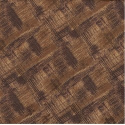 """11"""" Remnant Piece - Choco-Latte Folk Art Quilting Fabric - Dark Brown ~ by Whimsicals Quilts ~ Terri Degenkolb for Red Rooster Fabrics"""