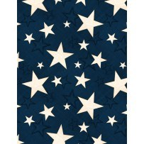 Colors of Freedom by Jennifer Pugh for Wilmington-Blue Paisley