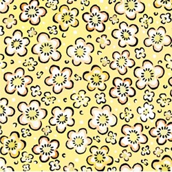 Four Seasons - Spring - Yellow Floral Toss - by Julie Paschkis for In The Beginning Fabrics