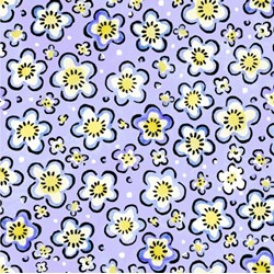 Four Seasons - Spring - Purple Floral Toss - by Julie Paschkis for In The Beginning Fabrics