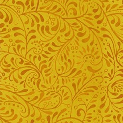 "25"" Remnant - Four Seasons - Autumn - Gold Whimsical Vine - by Julie Paschkis for In The Beginning Fabrics"