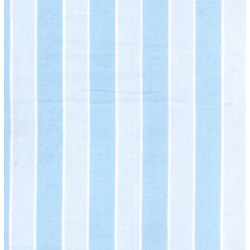 "Vintage Find!  10"" Remnant Piece Picnic Parade Quilt Fabric - Blue Stripe"