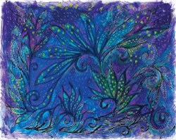 "Retired Fabric!  Dreaming Tree-Purple - 18"" Panel Repeat - by Frond Design Studios"