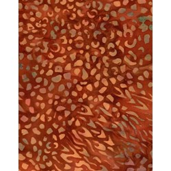 Princess Mirah Batiks - Hidden Savanna Collection - Dark Orange Print - Retired Collection