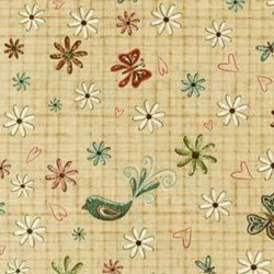 """End of Bolt - 58"""" - Birdies and Flowers by Heartstrings for Red Rooster Fabrics"""