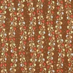 "32"" Remnant - Small Vines by Heartstrings for Red Rooster Fabrics"