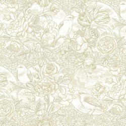 "7"" Remnant - Romance - Tonal Foral - by Jason Yenter for In The Beginning Fabrics"