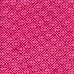 Island Batik Screen Print - Raspberry Diamonds - Sweet Nectar Collection