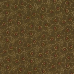 Kansas Troubles Favorites - Brown Mini Floral - by Kansas Troubles for Moda
