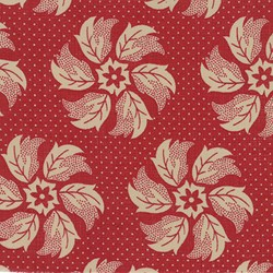 "End of Bolt - 74"" - La Fete de Noel - Whirl Floral Rouge - by French General for MODA"