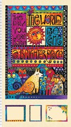 "Laurel Burch  -""Brighter Place"" Panel"