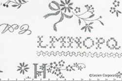 Lecien - Hope Chest Fabric - Antique White with Grey