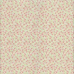 """11"""" Remnant - Lecien - Fancy Floral Collection - Tiny Floral on Green"""