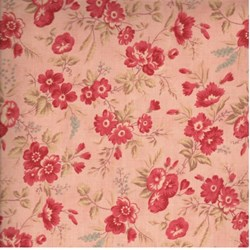 "12"" Remnant - 3 Sisters Favorites - Pink Floral - for Moda"