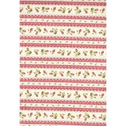 Welcome Home - Romantic Rosebud Stripe- by Maywood Studios