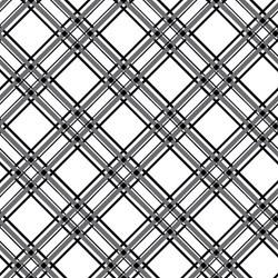 Kimberbell Basics -Diagonal Black Grid on White- by Maywood Studios