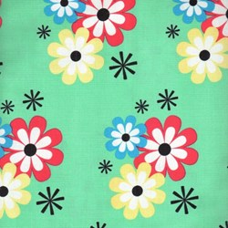 Summer Lovin' by Susan Emory- Flower Frolic in Sprout - by Michael Miller Fabrics