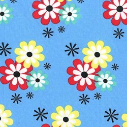 Summer Lovin' by Susan Emory- Flower Frolic in Wave- by Michael Miller Fabrics