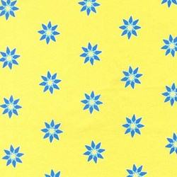 "31"" Remnant - Summer Lovin' by Susan Emory- Star Bloom in Lemon- by Michael Miller Fabrics"