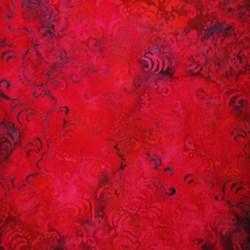 "31"" Remnant - Marrakesh Collection Pink Flambe Swirly by Batiks by Mirah Zriya"