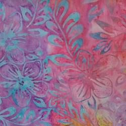 Floral Pink/Purple- by Batiks by Mirah Zriya