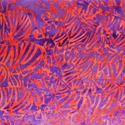 Noah's Ark Collection Grenadine Zebra by Batiks by Mirah Zriya