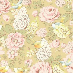 Miss Emma's Garden Birds Quilting Fabric ~ by Ann Sutton for Henry Glass & Co Fabrics
