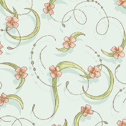 Miss Emma's Garden Florals - Swirls Quilting Fabric ~ by Ann Sutton for Henry Glass & Co Fabrics