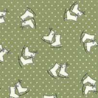 "26"" Remnant - Mistletoe Lane - Sage Ice Skates - by Bunny Hill Designs"