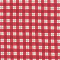 "35"" Remnant - Mistletoe Lane - Crimson Plaid- by Bunny Hill Designs   Retired Fabric"
